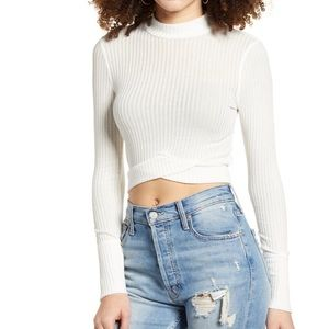 PST BY PROJECT SOCIAL Mock Neck Ribbed Crop top